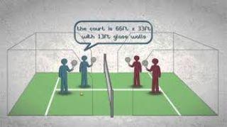 Vidéo animée sur le padel