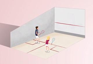 Explication des règles du squash.