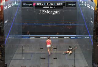 Quelques points spectaculaires au squash.